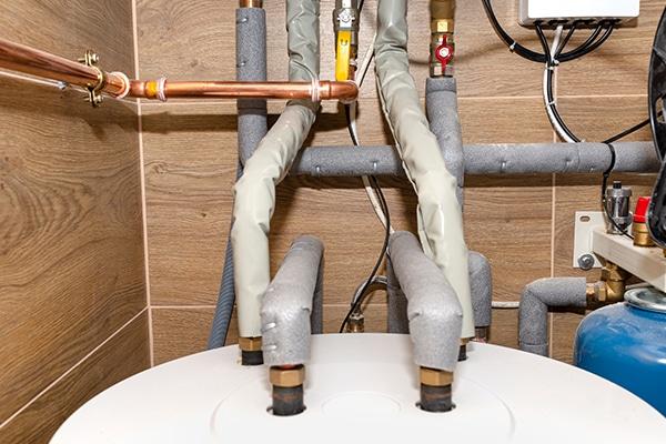 top of boiler piping
